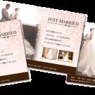 結婚報告はがきのテンプレートデザイン